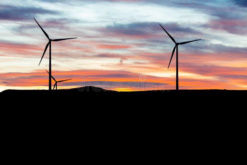 对流放电涡轮,由后照 图库摄影