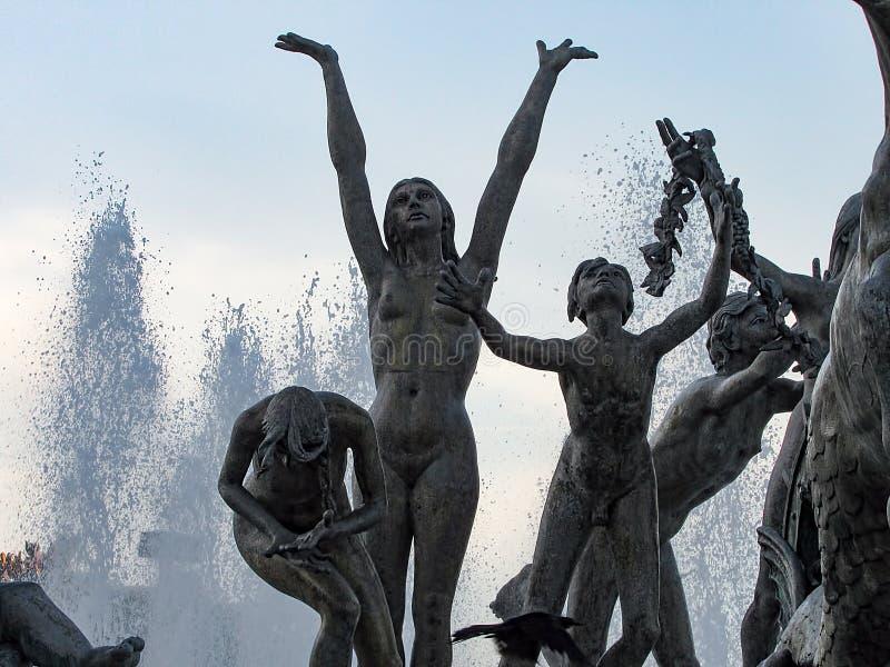 对海王星的喷泉 免版税库存照片