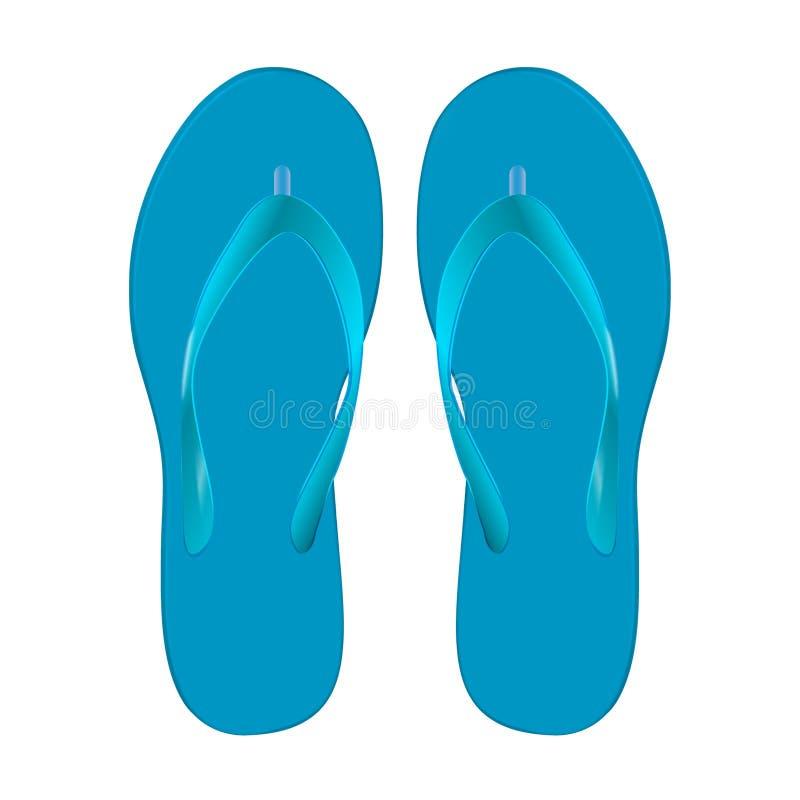 对海滩凉鞋 皇族释放例证
