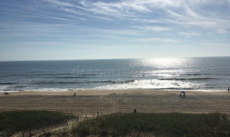对海滩的看法 库存图片
