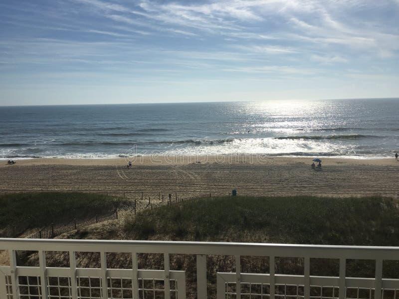 对海滩的看法 免版税库存图片