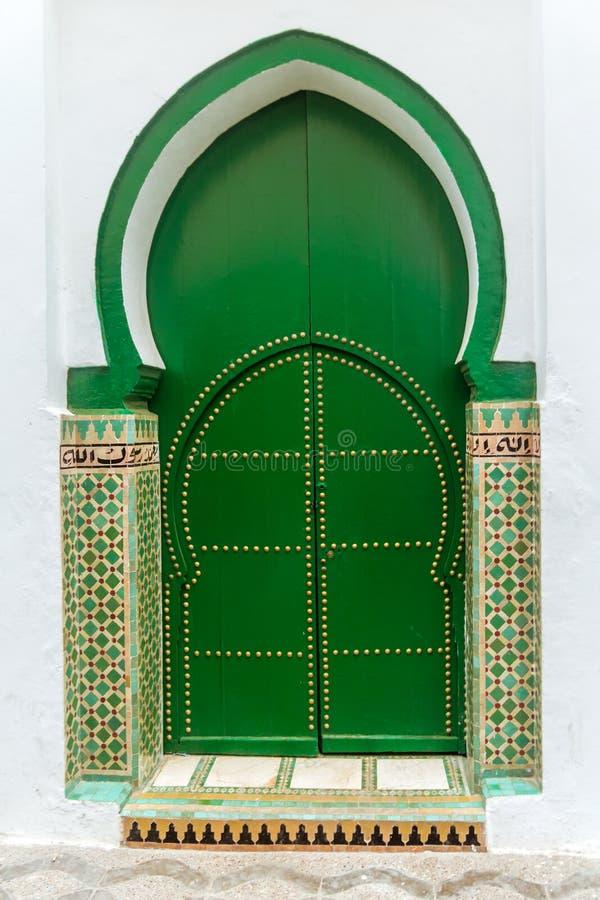对清真寺的门户 免版税库存照片