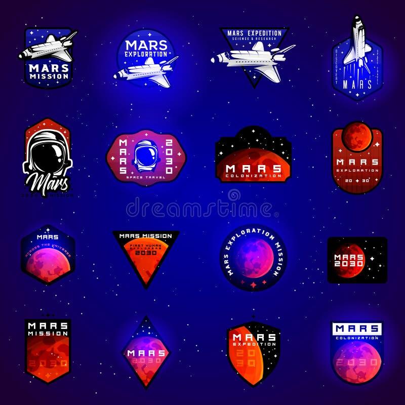 对火星传染媒介的航天任务象征与航天飞机的概念 库存例证