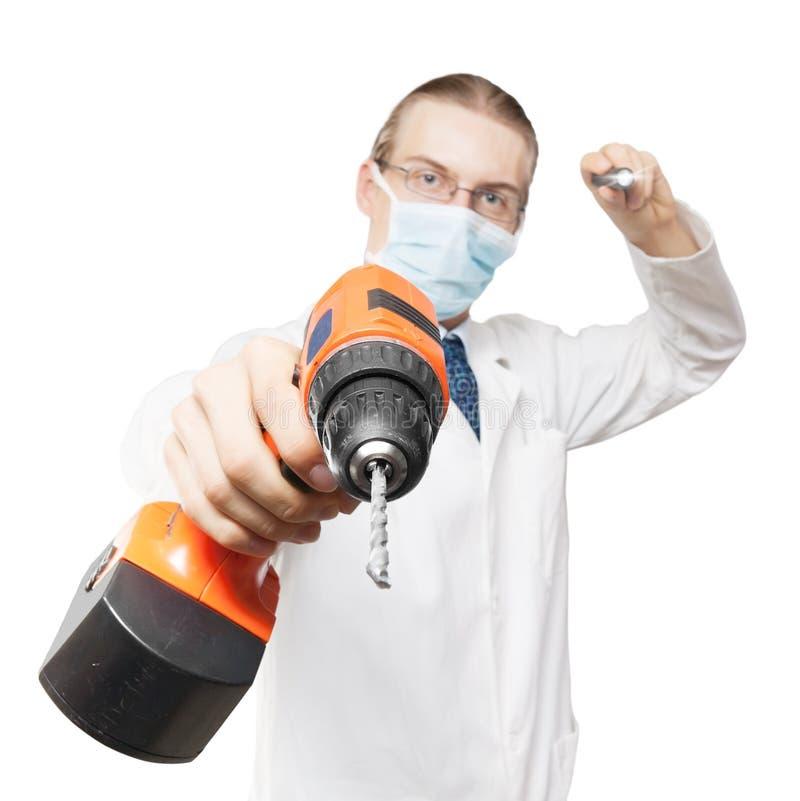 对牙科医生的恐惧 图库摄影