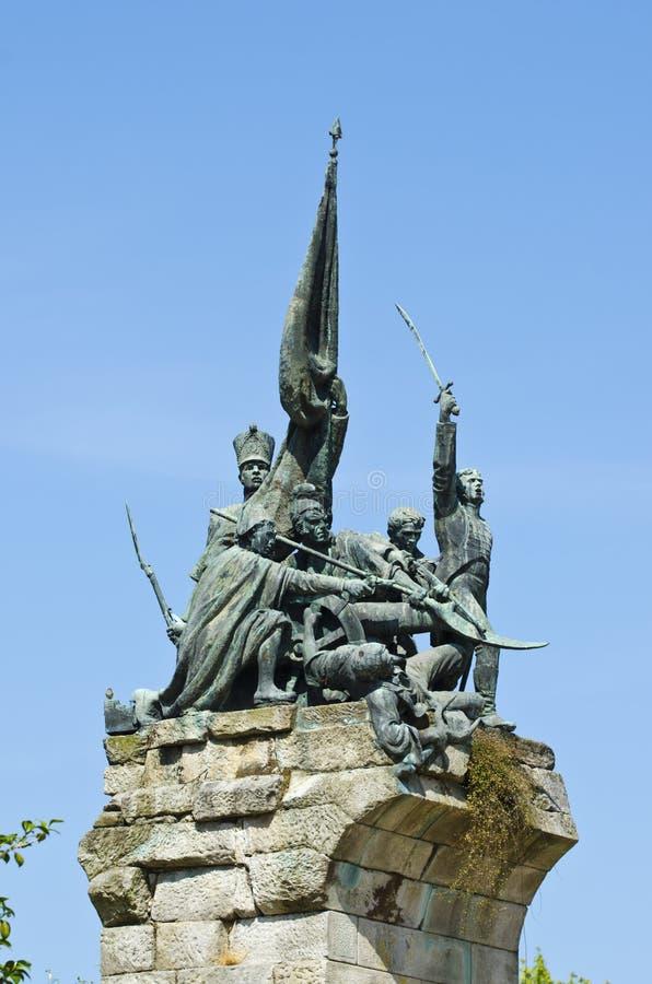 对独立战争的纪念碑反对法国人的,在蓬特韦德拉西班牙 库存照片