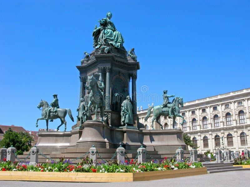对玛丽亚・特蕾西亚,维也纳,奥地利的纪念碑 库存照片