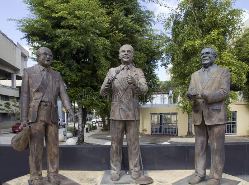 对电视巴阿蒙波多黎各的人的纪念碑 免版税库存照片