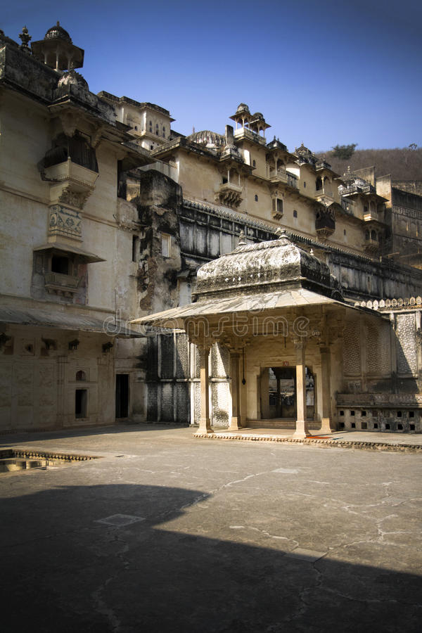 对皇宫的门在Bundi,印度 免版税库存照片