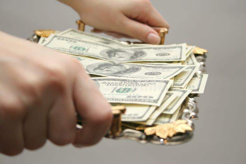 对盘的货币 免版税库存照片