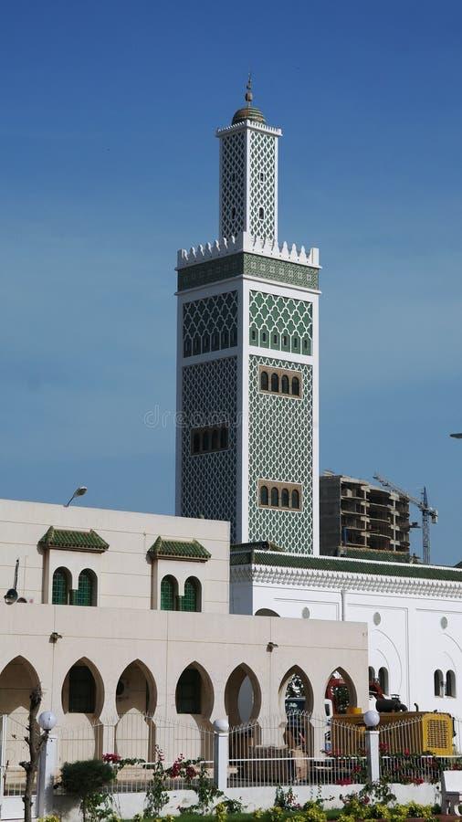 对盛大清真寺,达喀尔,塞内加尔的外视图 免版税库存图片