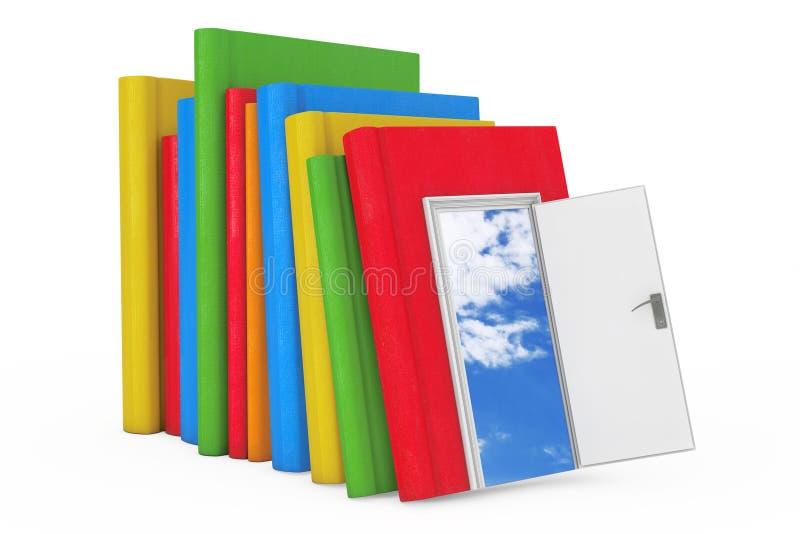 对知识、教育和读书概念的方式 栈颜色 皇族释放例证