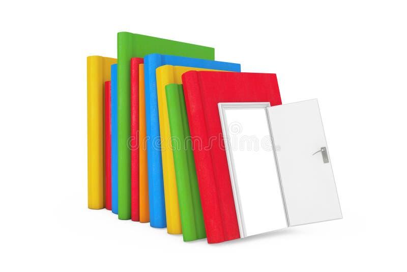 对知识、教育和读书概念的方式 栈颜色 库存例证