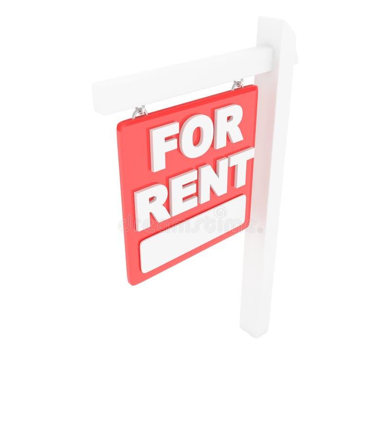 对租标志租约房地产 3d翻译 向量例证