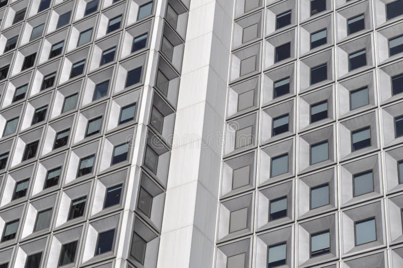 对称大厦门面,都市正方形,现代马赛克 库存照片