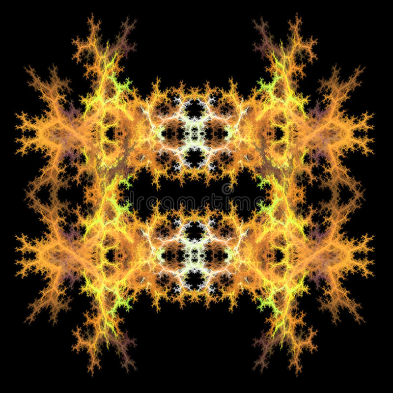 对称抽象背景的分数维 向量例证