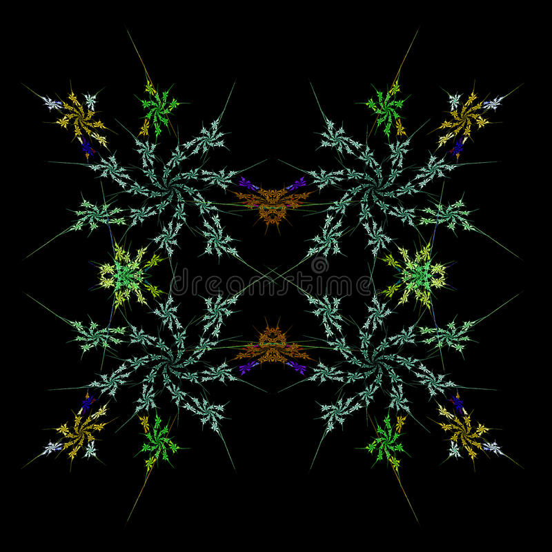 对称抽象背景的分数维 库存例证