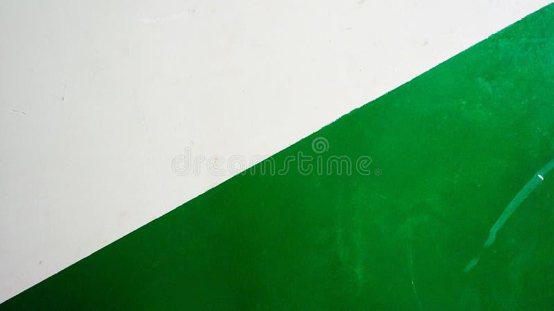 对称简单绿色和白色 库存图片