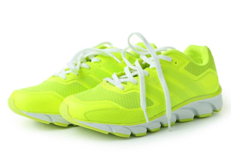 对穿上鞋子体育运动 库存照片