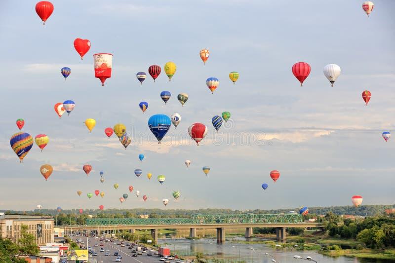对立陶宛的百年-一百次气球飞行 库存照片