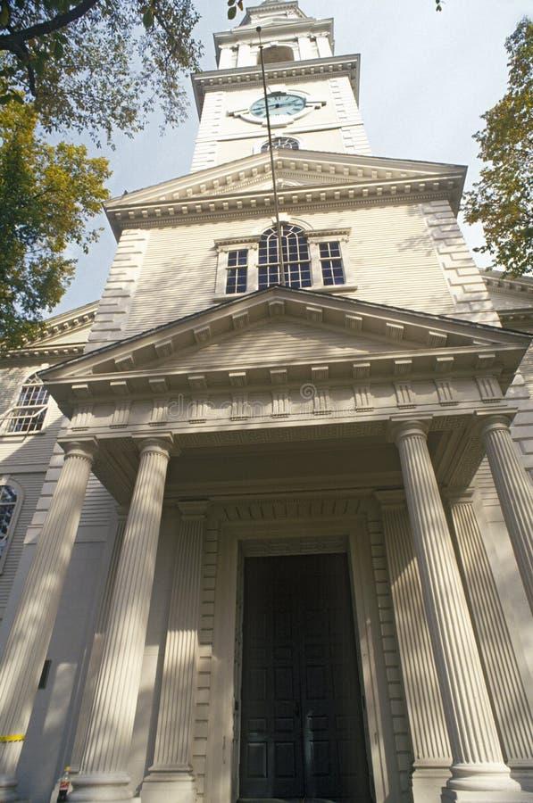 对第一座施洗约翰教堂的入口在美国,上帝, RI 图库摄影