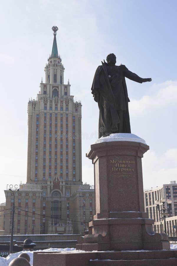对第一铁道部部长Pyotr Pavlovich Melni的纪念碑 库存图片