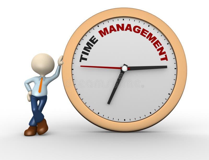 对管理的时间 向量例证