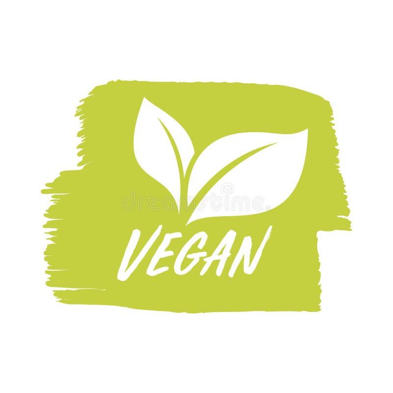 对素食主义者产品商店标记、素食标签或者横幅和海报 库存例证