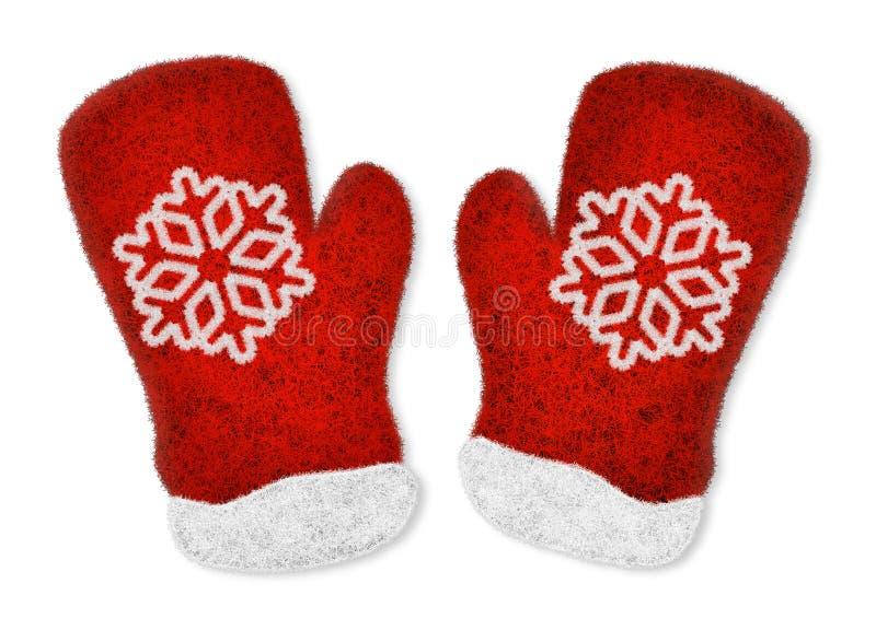 对红色手套 库存照片
