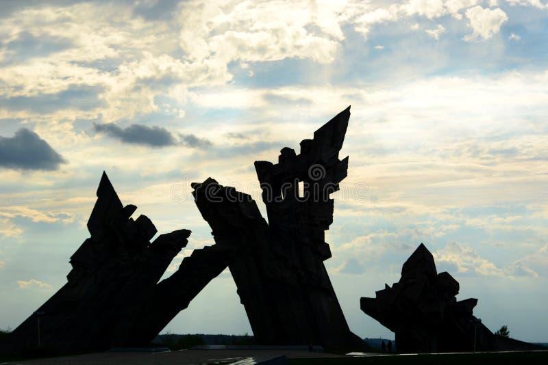 对纳粹主义的受害者的纪念品 第九个堡垒 考纳斯 立陶宛 免版税库存照片