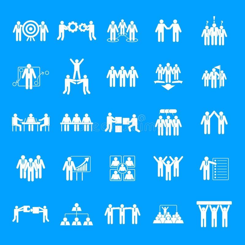 对组织工作训练象设置了,简单的样式 向量例证