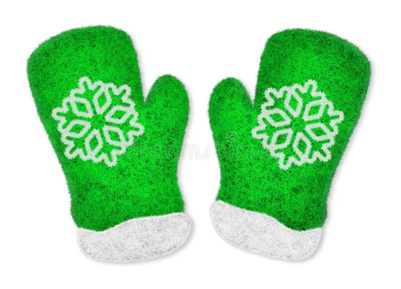 对绿色手套 库存图片