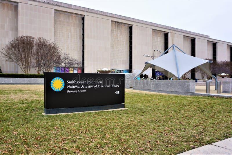 对美国历史国家博物馆的入口  库存图片