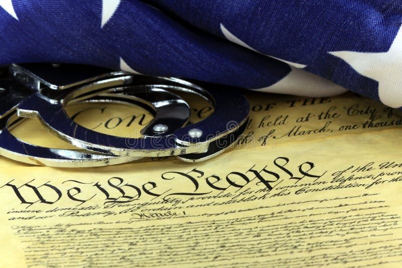 对美国宪法的第四个校正 免版税库存图片