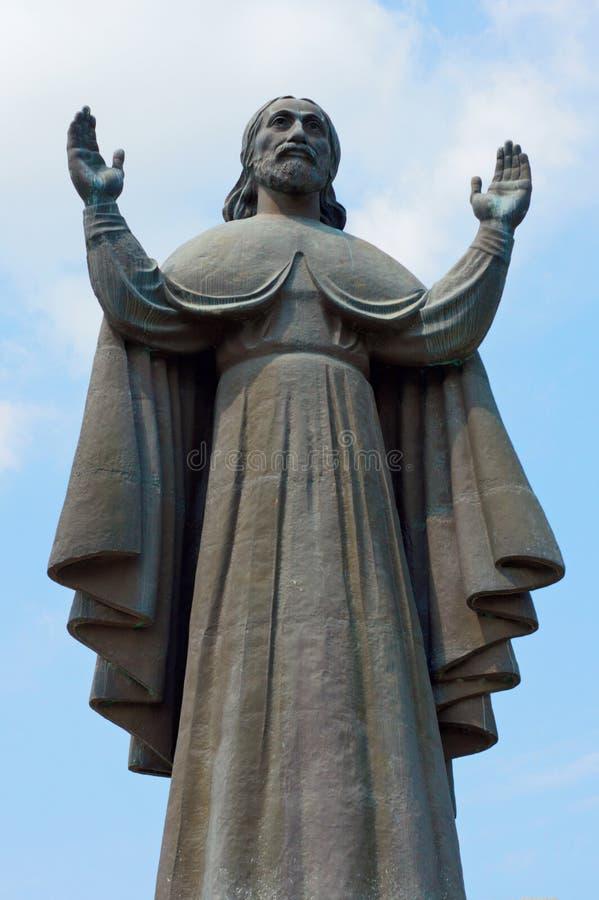 对耶稣基督的一座纪念碑 图库摄影