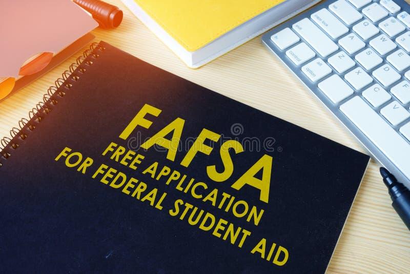 对联邦学生援助FAFSA的自由申请 库存图片