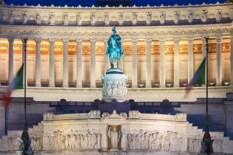 对胜者伊曼纽尔的国家历史文物II,罗马,意大利 免版税库存图片