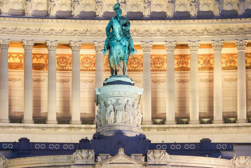 对胜者伊曼纽尔的国家历史文物II,罗马,意大利 免版税库存照片
