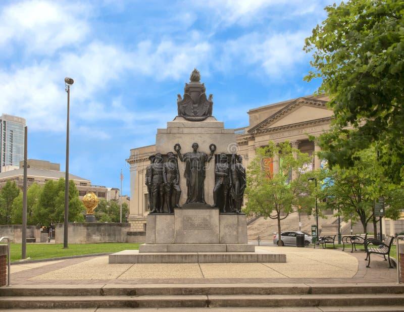 对色的战士和水手,摇石公园,费城宾夕法尼亚的所有战争纪念建筑 库存照片