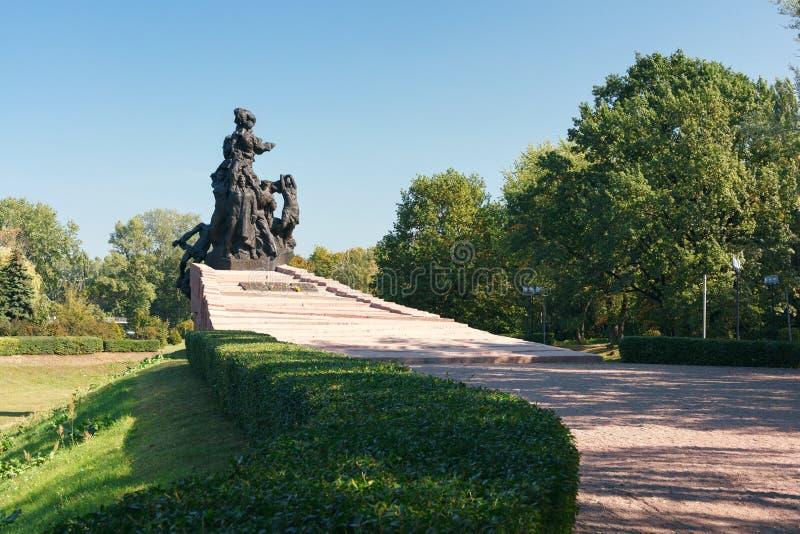 对苏联军队的苏联公民和战俘战士和官员的纪念碑,杀死被纳粹 免版税库存照片