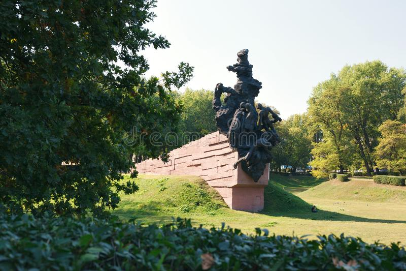 对苏联军队的苏联公民和战俘战士和官员的纪念碑,杀死被纳粹 免版税库存图片