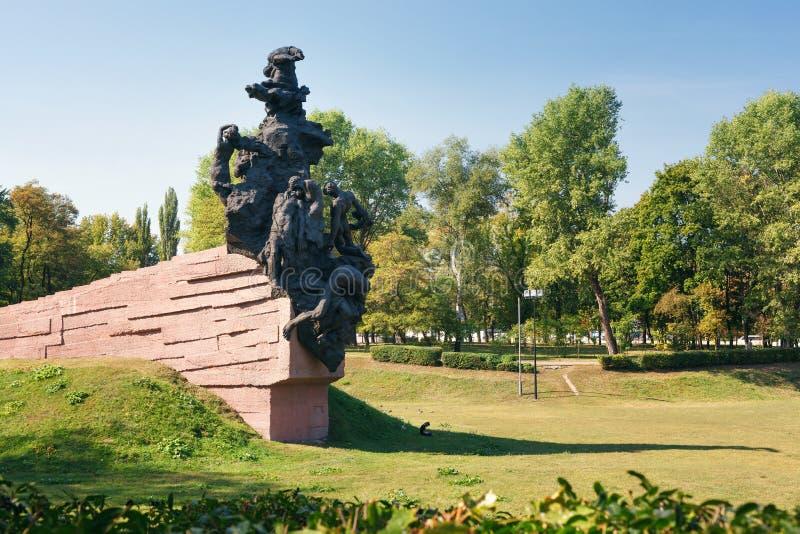 对苏联军队的苏联公民和战俘战士和官员的纪念碑,杀死被纳粹 免版税图库摄影