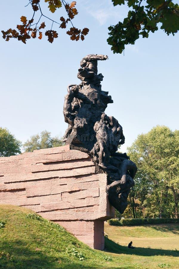 对苏联军队的苏联公民和战俘战士和官员的纪念碑,杀死被纳粹 库存图片