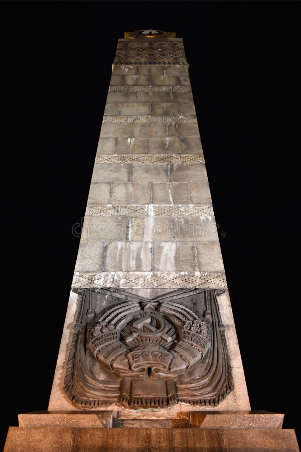 对苏联士兵的纪念碑胜利的 库存照片