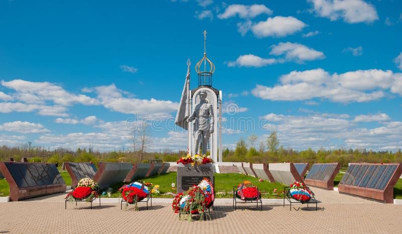 对英雄记忆的纪念碑  免版税图库摄影
