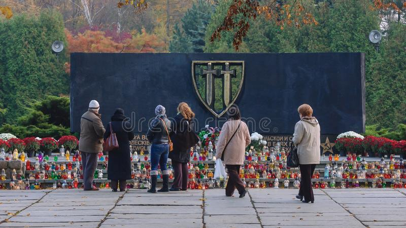 对荣耀的纪念碑 库存图片