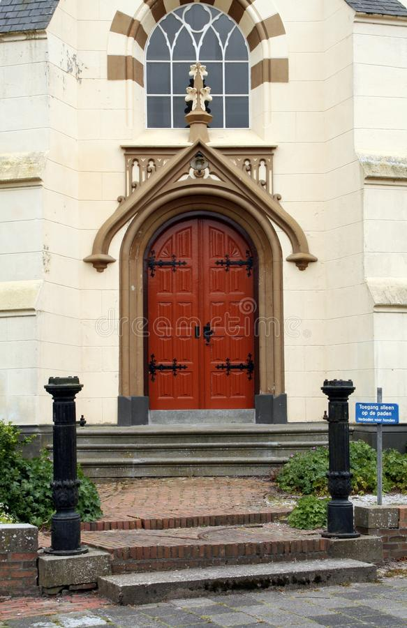 对荷兰被改革的教会的入口,荷兰 免版税库存图片