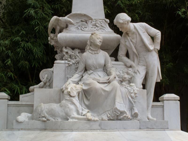 对著名costumbrist豪尔赫写的新颖的玛丽亚的纪念碑豪尔赫艾萨克斯 图库摄影