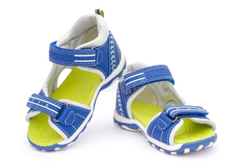 对蓝色凉鞋 免版税库存图片