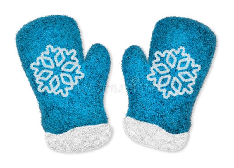 对蓝色手套 库存照片