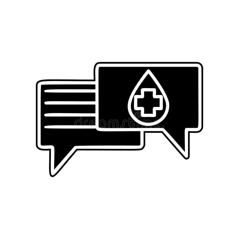 对血液象讲话 献血的元素流动概念和网应用程序象的 纵的沟纹,网站设计的平的象和 向量例证